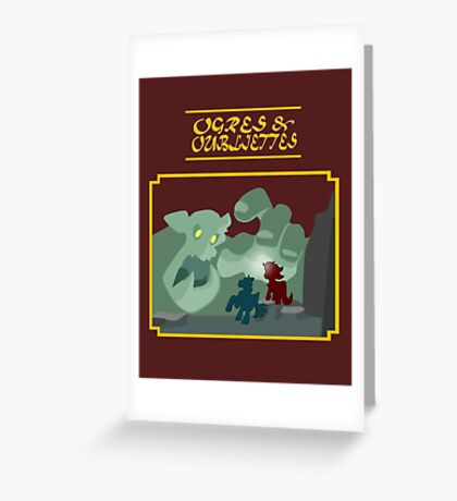 Ogres and Oubliettes - gold text Greeting Card