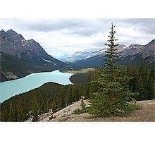 Rolling mountains at Peyto Lake Photographic Print