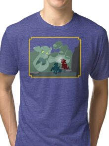 Ogres and Oubliettes - NO text Tri-blend T-Shirt