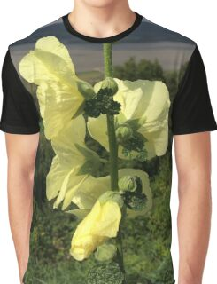Yellow Flower in a Landscape Graphic T-Shirt