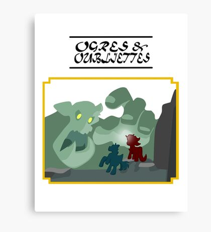 Ogres and Oubliettes - black text Canvas Print
