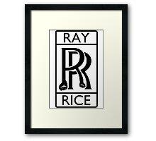 Ray Rice - Rolls Royce parody Framed Print