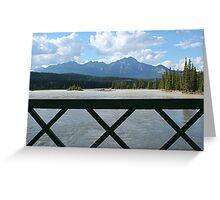 Athabasca river at Jasper Greeting Card