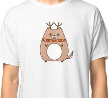 Cute Christmas Reindeer Pupsheen Classic T-Shirt