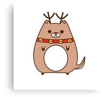 Cute Christmas Reindeer Pupsheen Canvas Print