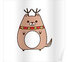 Cute Christmas Reindeer Pupsheen Poster