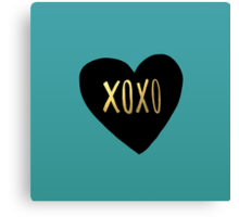 XOXO Heart Canvas Print