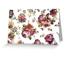 fabric flower pattern  Greeting Card