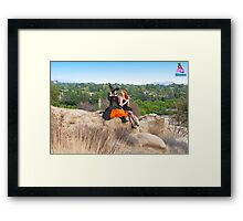 Mandy Monarch & Stella the Witch (in the hills) Framed Print