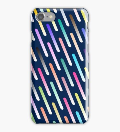Abstract cosmic rain iPhone Case/Skin