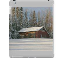 Old Barn Winter Snow Scene iPad Case/Skin