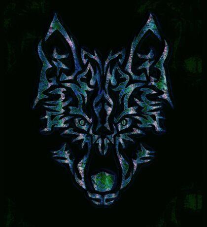 Tribal Wolf Design Sticker