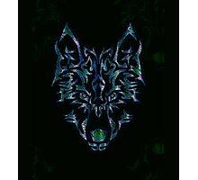 Tribal Wolf Design Photographic Print