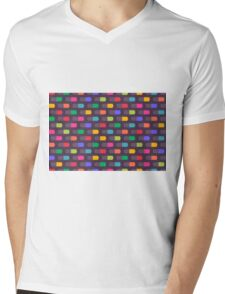 bright geometric Mens V-Neck T-Shirt
