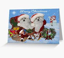 Dog's Winter Adventure - Christmas Card Greeting Card