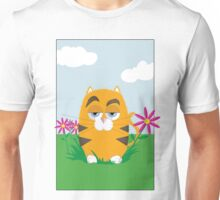 Cat in the Flowers Unisex T-Shirt