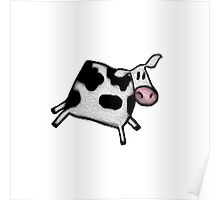 Jumping Cow Poster