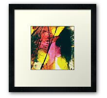 Pink and Yellow Abstract Framed Print