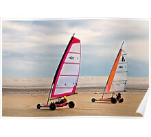 Land Yachts Poster