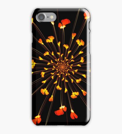 Red flower pattern on Japanese paper for background iPhone Case/Skin