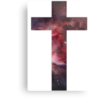 Galaxy Cross Metal Print