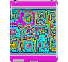 BRIGHT COLORFUL PATTERN OF CIRCLES IN SQUARES iPad Case/Skin
