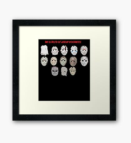 The 13 Faces of Jason Voorhees Framed Print