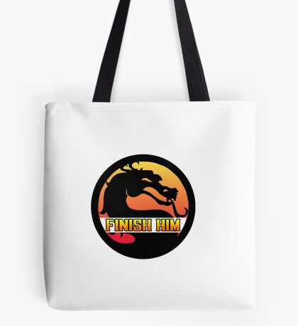 Mortal Kombat: Finish Him! Tote Bag