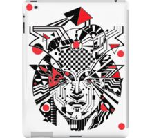 TECHNO HEAD WITH RED iPad Case/Skin