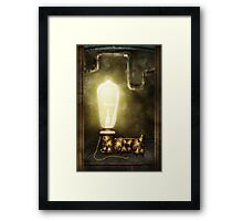 Steampunk - Alphabet - L is for Light Bulb Framed Print