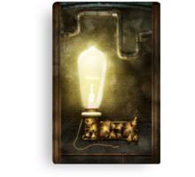 Steampunk - Alphabet - L is for Light Bulb Canvas Print