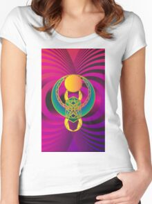 Scarab Vertical 1 Women's Fitted Scoop T-Shirt