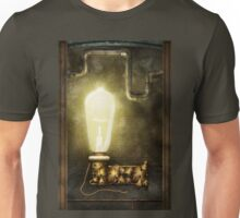 Steampunk - Alphabet - L is for Light Bulb Unisex T-Shirt