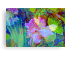 Squiggly jiggly flower print Canvas Print