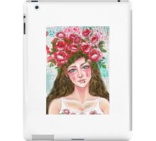 Floral Haired Girl iPad Case/Skin