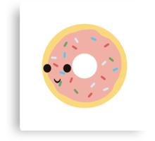 Kawaii Donut Canvas Print