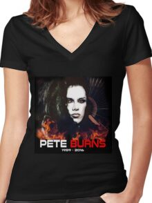 RIP Pete Burns - Dead or Alive Band Women's Fitted V-Neck T-Shirt