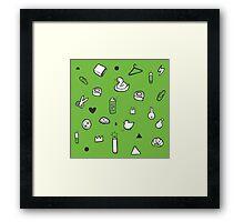 Everyday Icons Framed Print