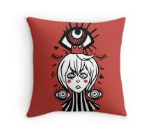 Red All seeing prince Throw Pillow
