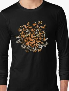 Arrangement in White, Brown and Orange Long Sleeve T-Shirt