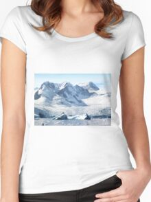Cierva Cove with Glaciers & Iceberg Women's Fitted Scoop T-Shirt