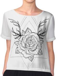 Deer Rose  Chiffon Top