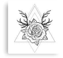 Deer Rose  Canvas Print