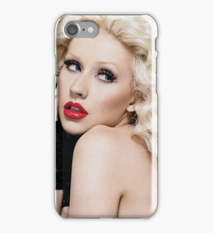 Christina Aguilera - Oil Paint Art iPhone Case/Skin