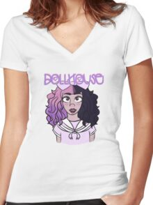 Dollhouse Women's Fitted V-Neck T-Shirt