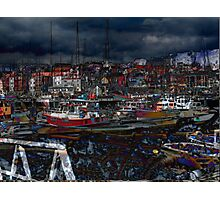 whitby harbour Photographic Print