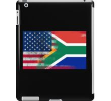 South African American Half South Africa Half Flag iPad Case/Skin