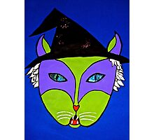 Wicked Witch Cat Photographic Print
