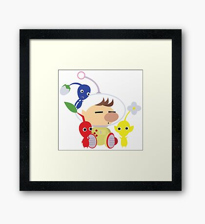 Olimar and Pikmin Vector Framed Print