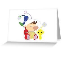 Olimar and Pikmin Vector Greeting Card